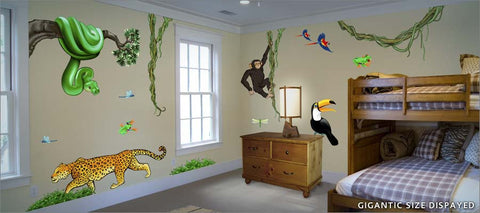 jungle wall decals theme room