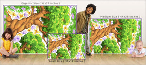 giant tree enchanted woods butterfly wall decals size comparison
