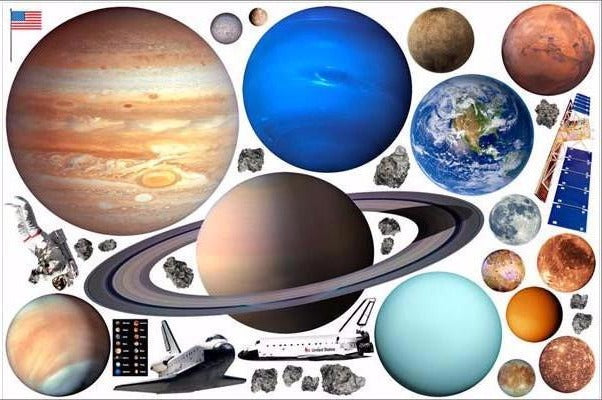 solar system wall stickers print view