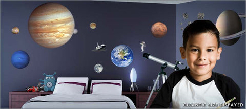outer space wall decals theme room