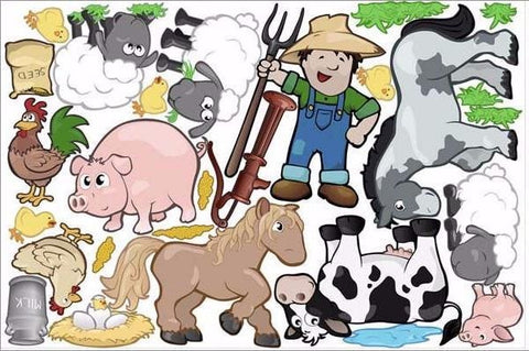 farmer wall stickers print view