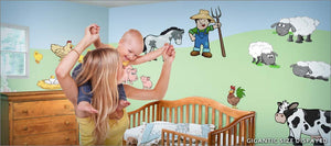 on the farm wall decals theme room - Turn your room into a happy farm!