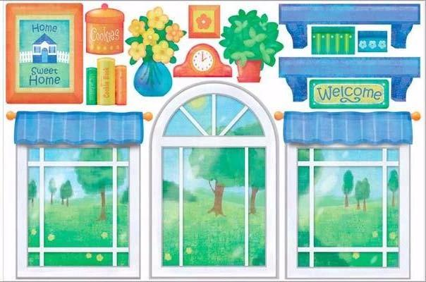 playhouse wall sticker set print view