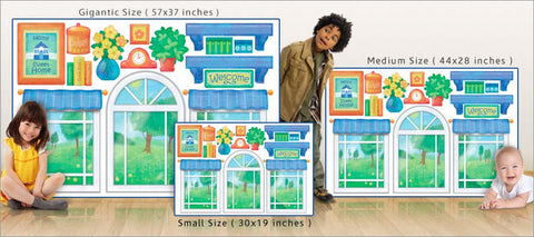 playhouse wall decals size comparison