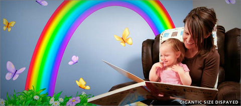 over the rainbow wall decals theme room