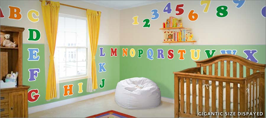 Marvelous Alphabet Wall Decal Theme Room Part 29