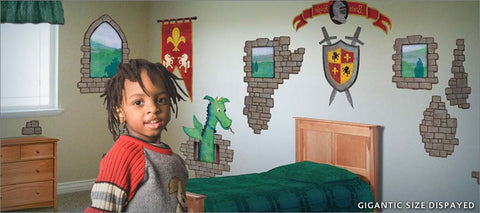 dragon castle wall decals theme room