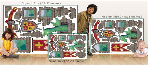 dragon castle wall decals size comparison