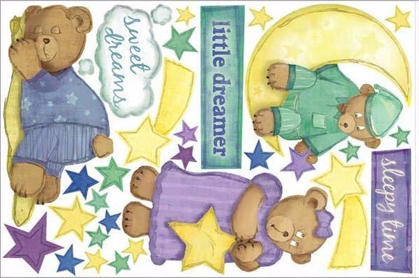 sleeping bear wall stickers print view