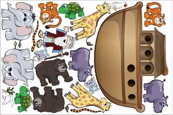 noah's ark wall stickers print view