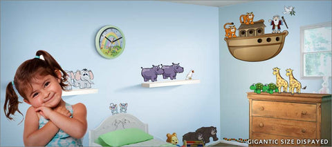 noah's ark wall decals theme room