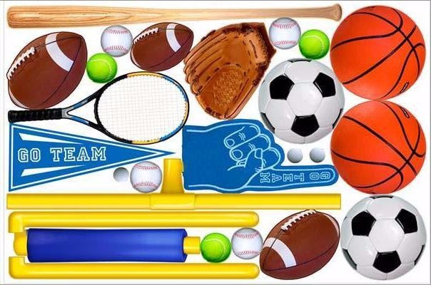 sporting goods wall stickers print view