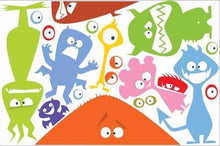 Load image into Gallery viewer, fun monsters wall stickers print view