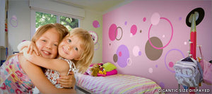 pink dot wall decals theme room