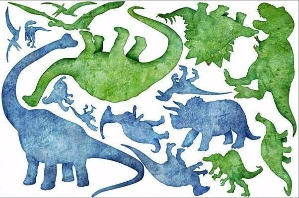dinosaur silhouette wall stickers print view