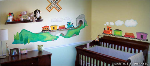 train ride wall decals theme room