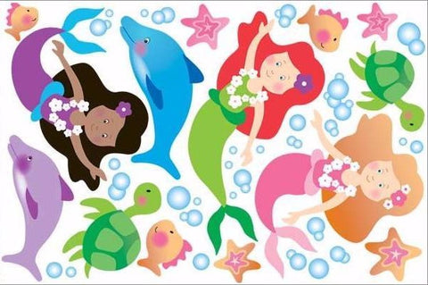mermaid wall stickers print view