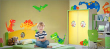 Load image into Gallery viewer, dino friends wall decals theme room
