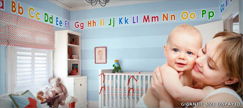 block alphabet wall decal theme room