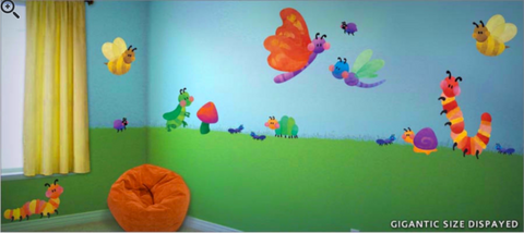 Cute as a Bug Fabric Wall Decals
