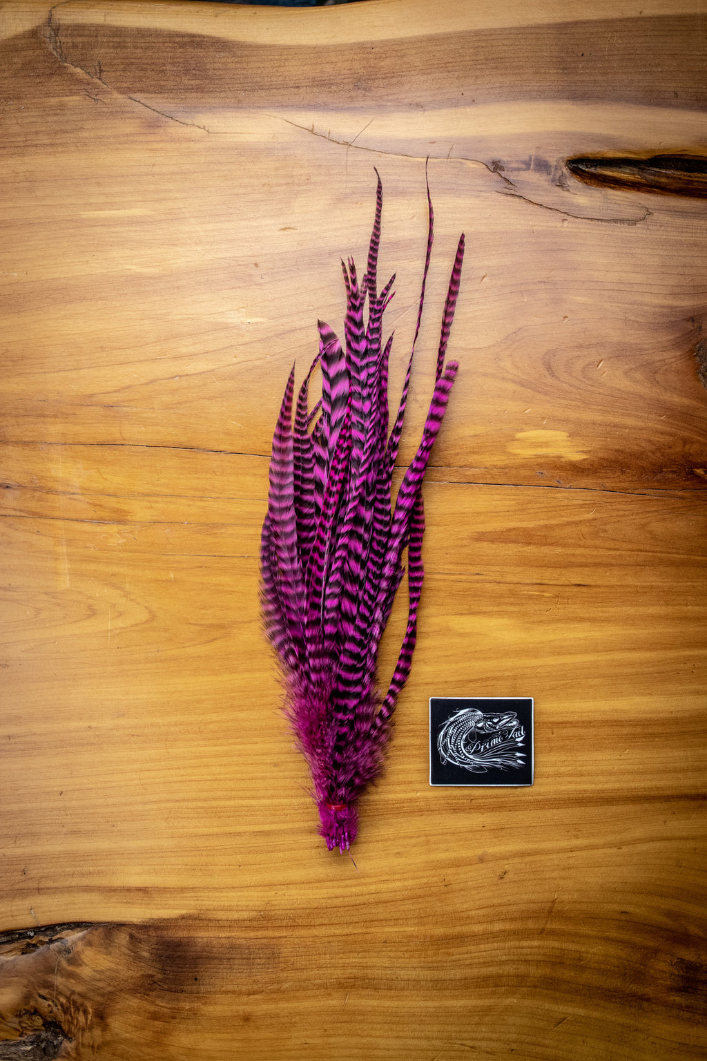 Purple Grizzly Feathers