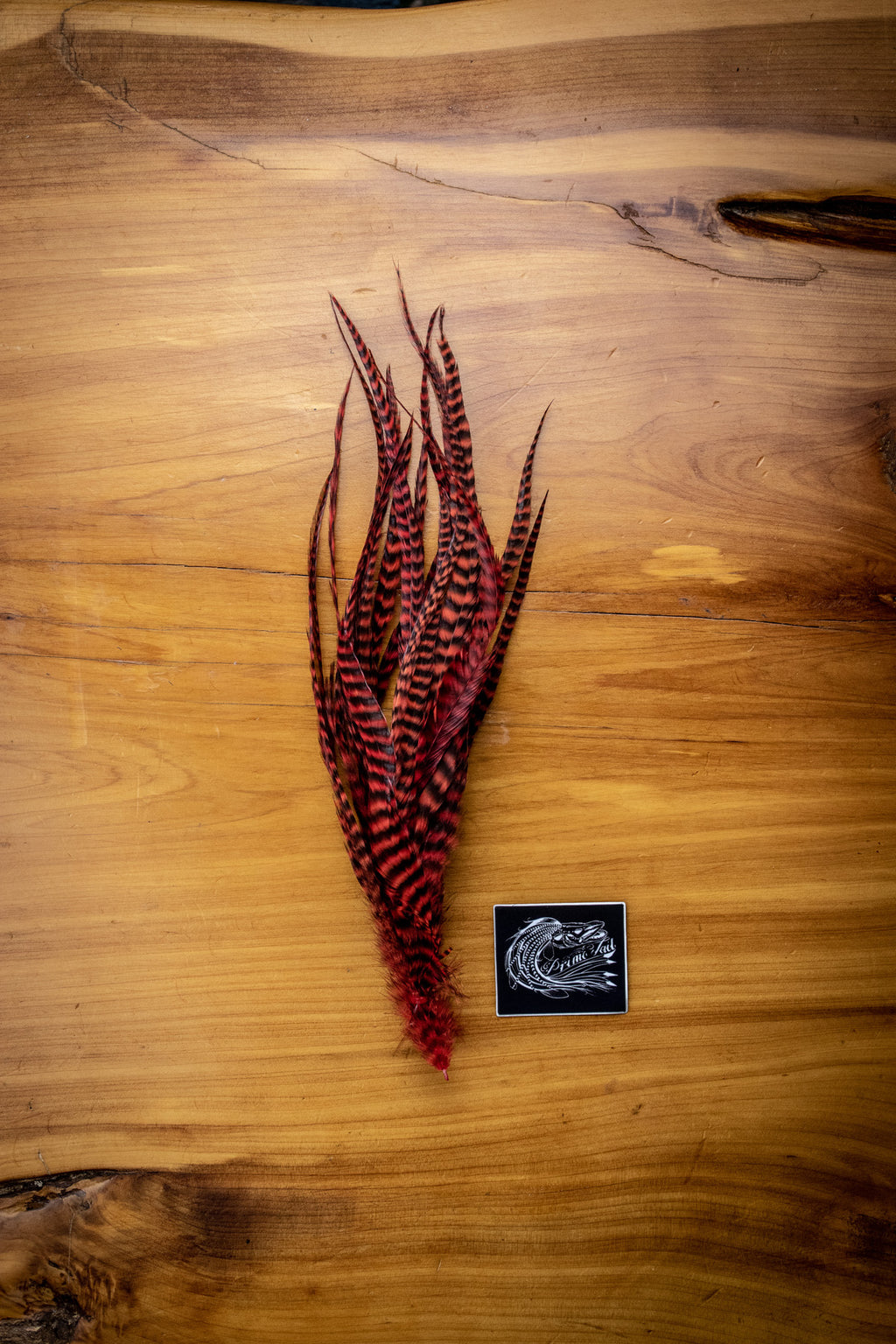 Red Grizzly Feathers