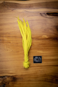 Yellow Solid Feathers