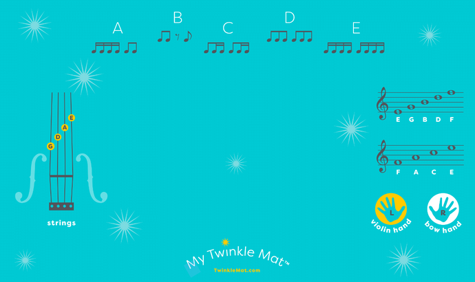 Twinkle Mat With Felt Foot Stickers