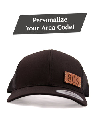Personalized Area Code six-panel Snapback
