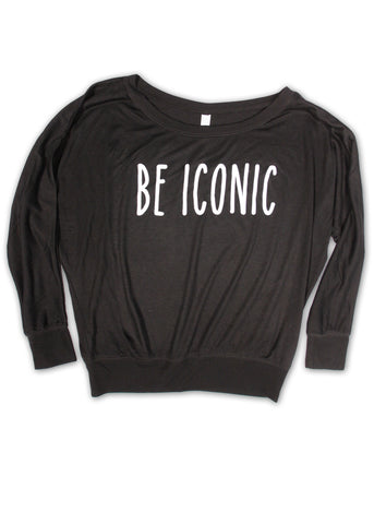 Be Iconic Long Sleeve Off Shoulder Tee