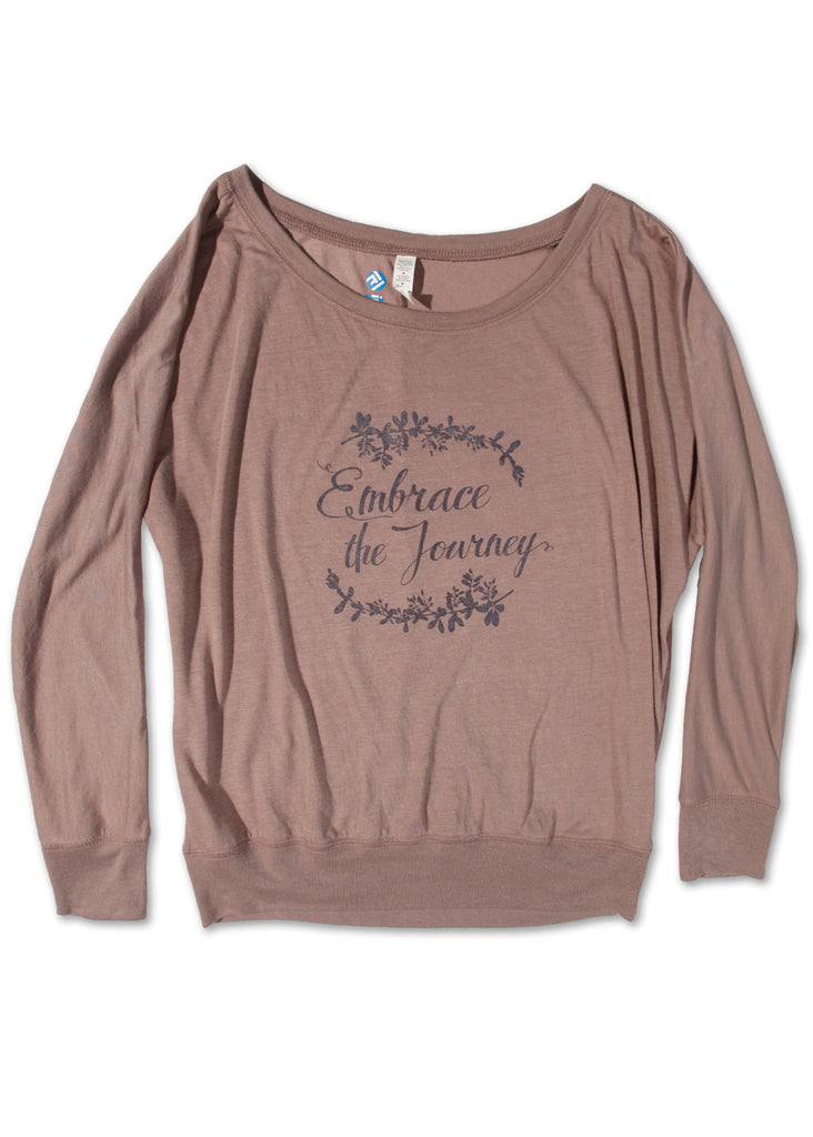Embrace the Journey Long Sleeve Off Shoulder Tee