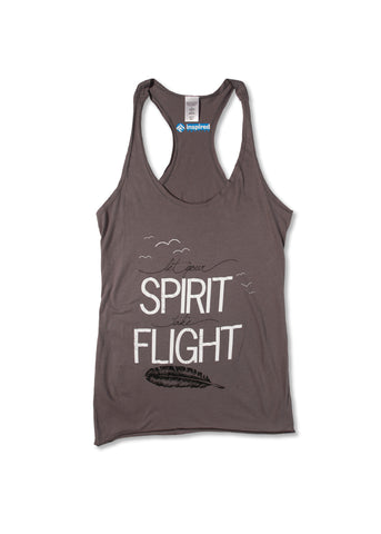 Let Your Spirit Take Flight Racer Tank