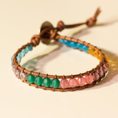 Color Blocked Wrap Bracelet Multi Translucent