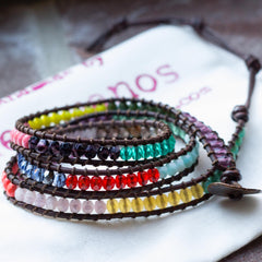 Color Blocked Triple Wrap Bracelet Happy Hues