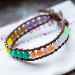 Color Blocked Wrap Bracelet Cali Surf