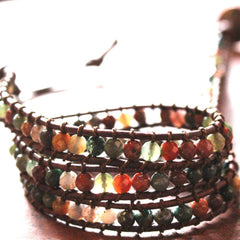 Gemstone Triple Wrap Bracelet (small gem)