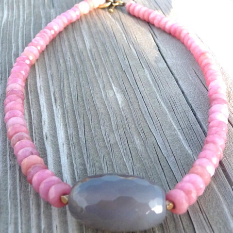 Faceted Soft Hues Necklace
