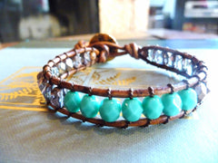 Color blocked wrap bracelet