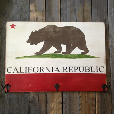 California Flag Hat Rack