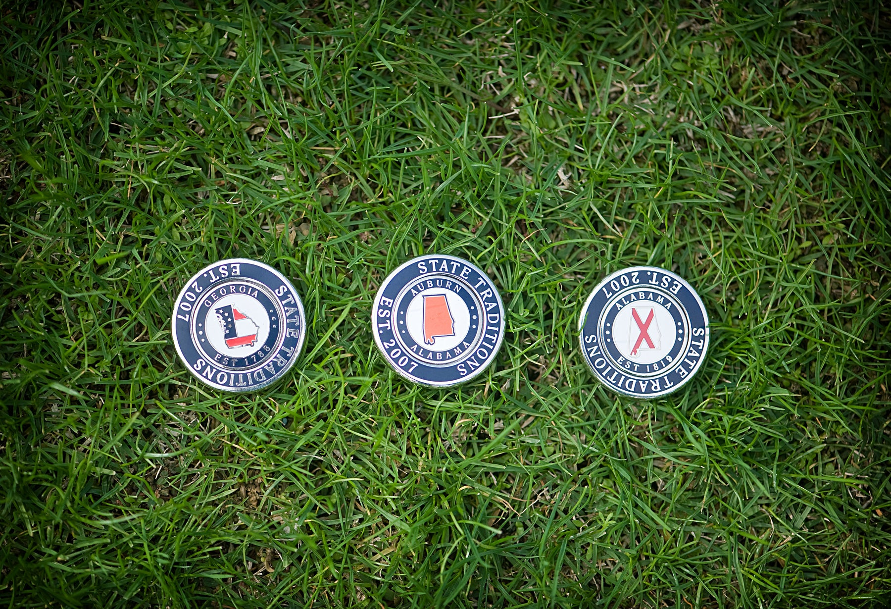 Golf, Ball Marker, Spring 21, Birdie, Par, Alabama, Georgia, Green Grass, State Traditions Golf, Drive for Show Putt for Dough, Net5, Bogey Golf, transfusion