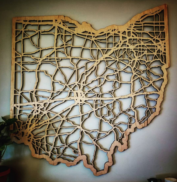 Ohio Cut State Map