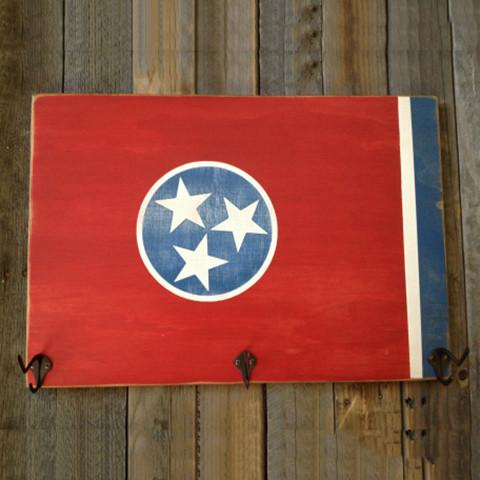 Tennessee State Flag Hat Rack
