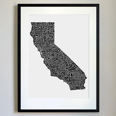 California Typography Map