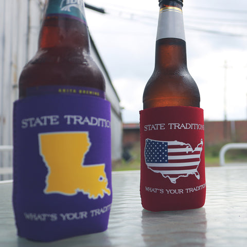 State Traditions Louisiana And America Koozie