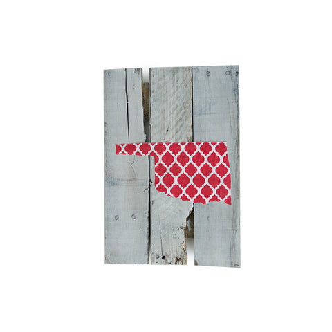 Oklahoma Norman Gameday Reclaimed Wooden Pallet Art