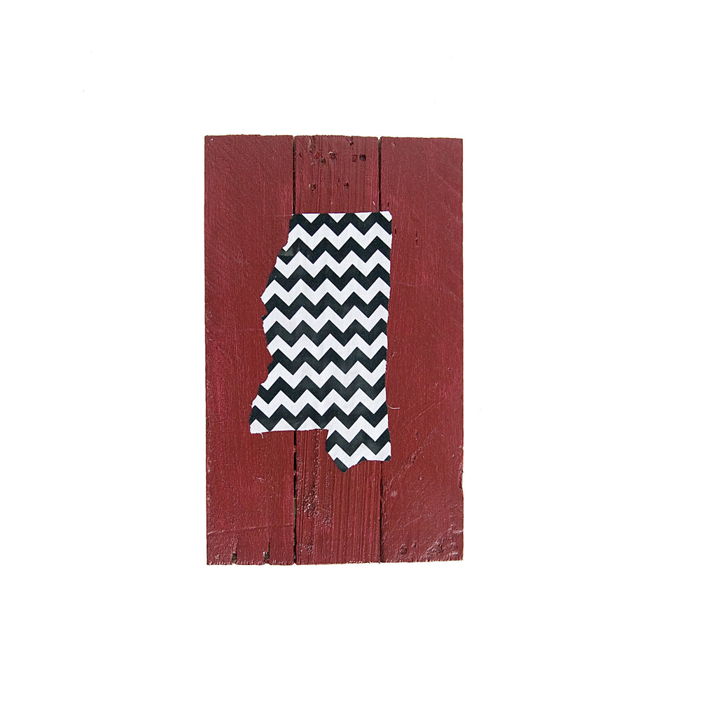 Mississippi Starkville Gameday Reclaimed Wooden Pallet Art