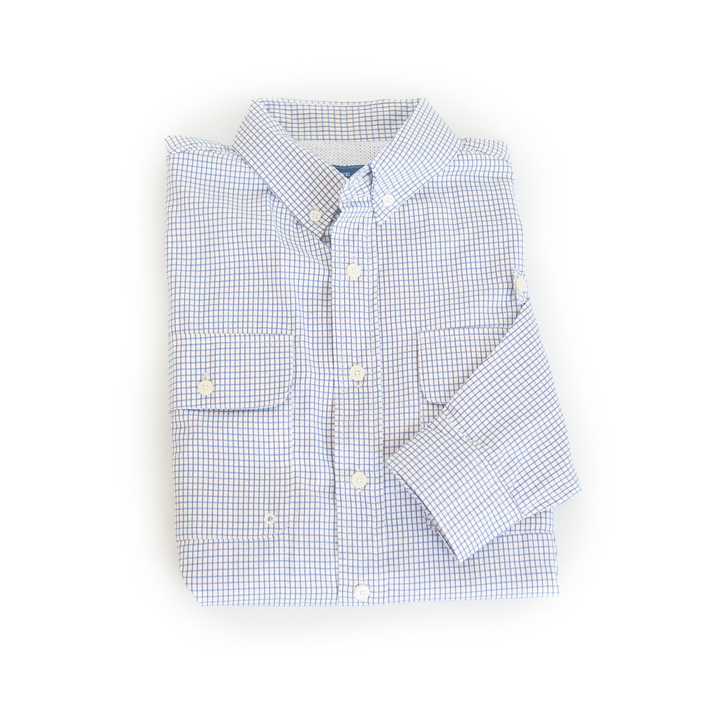 Coastline Vented Woven Shirt Blue