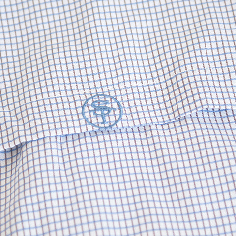 North Carolina Traditional Vented Woven Shirt Blue
