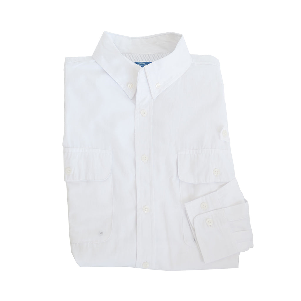 Coastline Vented Woven Shirt White