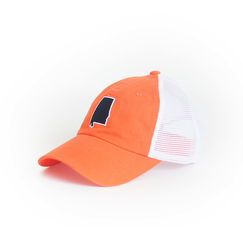 Alabama Auburn Gameday Trucker Hat Orange